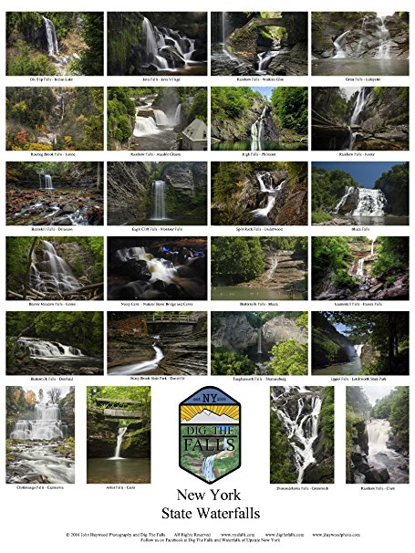 New York State Waterfalls 18x24 Poster