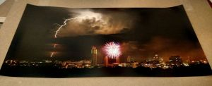 "Fire in the Sky 15""x30"" Luster Print"