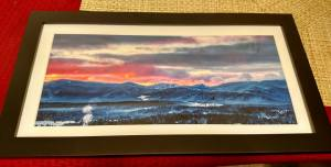 "Olympic Sunrise 10""x 20"" Pano"